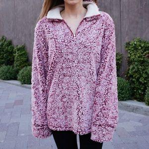 Fuzzy Pullover Jacket Sweatshirt